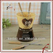 Набор красочных керамических шоколадных фондю
