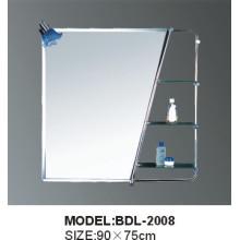 Miroir en verre d'argent de salle de bains d'épaisseur de 5mm (BDL-2008)