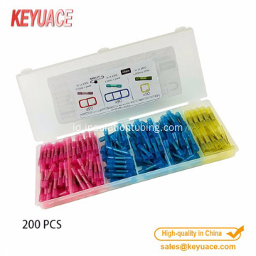 200pcs Insulated Heat Shrink Butt Connector anti-korosi