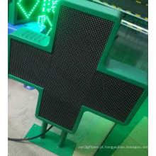 Exposição LED P6 Dupla Face de Farmácia Cruzada