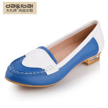popular laser cut genuine leather casual women shoes