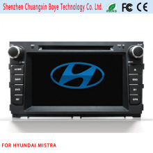 Car DVD Player de Vídeo com Bluetooth para Hyundai Mistra