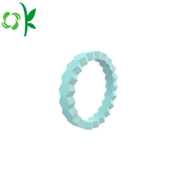 Thiết kế thời trang Stackable Silicone Wedding Ring Soft Ring