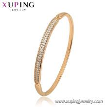 52129 Xuping Jewelry China Wholesale gold plated simple style fashion women bangle