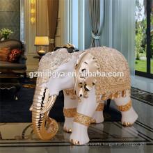 Home decoration resin fantasy figures/paint resin figure/resin figure craft luxury elephant statue