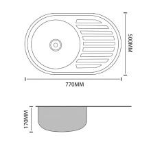 SINKS Stainless steel oval shape kitchen sinks single bowl OEM acceptable