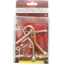 Rompecabezas de metal 3D con solución de anillos