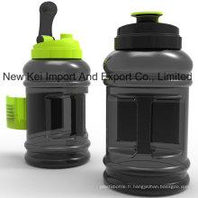 Bouteille de sport plastique 2.2 / 2.5L populaire