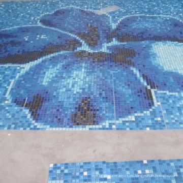 Azul Color Varios Uso Piscina Mosaico De Vidrio Mezcla, Mosaicos De Vidrio Para Piscinas, Fachadas Exterior, Pisos