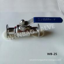 Two Piece CF8m Clamp Sanitary Ball Valve Price