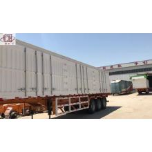 Semirremolque furgón de carga desmontable