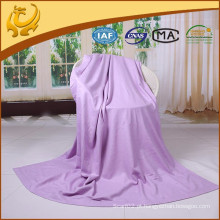 AZO Free Top Quality New Style Silk Material TV Blankets Plain Winter Blankets With Brushed