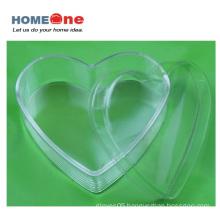 Flat Heart Shape Plastic Candy Box