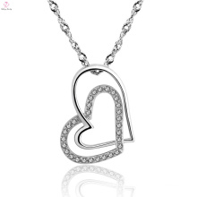 Custom New 925 Sterling Silver Heart Necklace Jewelry