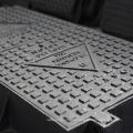 Ductile cast iron rectangular manhole cover for sewage