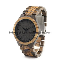 Quality Hand Made Natural Zebra Wooden Watches for Men