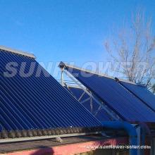 Tuyau de panneau solaire thermique sous pression avec chauffage