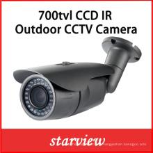 700tvl CCD Sony lente fija impermeable IR Bullet cámara de seguridad