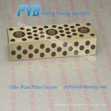 placas de grafite de carbono para óleo, placas de bronze para grafite, placa deslizante de bronze para grafite UPW