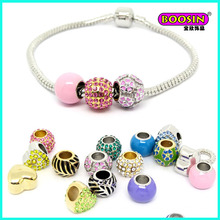 2016 New Developed Colorful Enamel Alloy Beads Snack Chain Bracelet