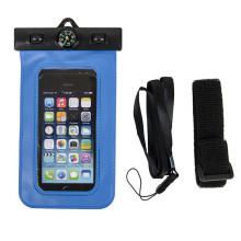 Novo selado pvc caixa do telefone móvel à prova d'água com bússola (yky7259)