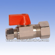 mini ball valve angle valve with red handle