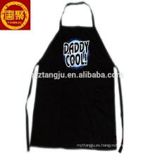 delantal de cocina, delantal médico, delantal negro con bolsillos