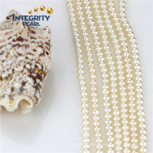 Vente en gros Loose Pearl Strand 4mm AAA Culture Round Pearl Strand