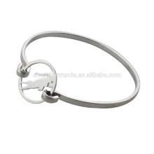 Fashion stainless steel bangles with silver cow for women , RD-1010