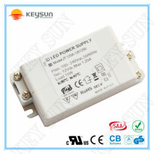 15W 1250ma tension d'alimentation à 12 volts EMC LVD ROHS approuvé transformateur à tension constante