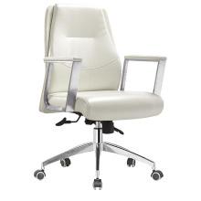 Chaise de bureau en cuir à dossier moyen moderne de haute qualité (HF-B1501)