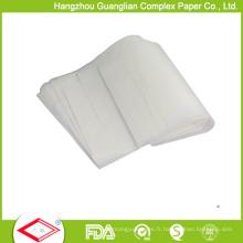 Papier de cuisson de parchemin de silicone de 420X620mm antiadhésif
