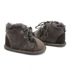 winter sheepskin baby booties