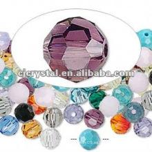 Piezas de joyas de colores, cuentas de cristal