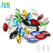 Excelente Qualidade China Navette Cristal Pointback Fantasia Pedra Decorativa Botões Beads para Vestido de Noiva C4228