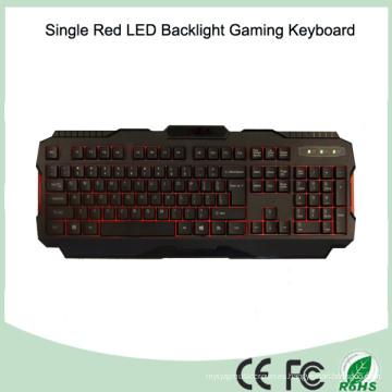 Múltiples idiomas disponibles Teclado de un sólo color rojo LED Gamer (KB-1901EL-R)