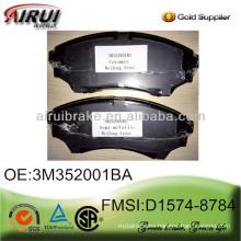 No noise Ceramic Brake pad D1574-8784 for Ford Ranger and Mazda BT-50