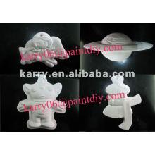 jouet de peinture diy pour les enfants, cadeaux promotionnels, diverses formes de jouets de peinture en céramique