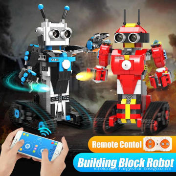 kids 359pcs DIY educational plastic toy rc robot building blocks with battery