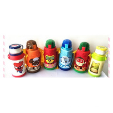 Authentic Suction Vacuum Keep-Warm Glass, Children Cartoon Double Cover Cup