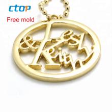 Fashion decorative factory design bag hardware accessories gold custom metal logo metal bags handbag metal bag logo
