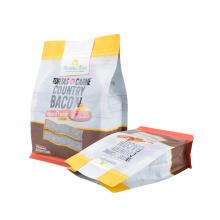 Customized Plastic Packaging Printed Stand up Brown White Kraft Paper Zipper Tear Notch Waterproof Packaging Bag