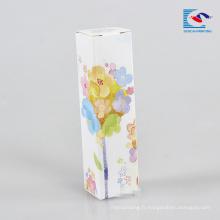 belles boîtes de fleurs lipgloss emballage sans étiquette