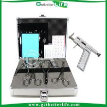 Corpo profissional Piercing Kit para Naval/orelha/língua com 5 ferramentas