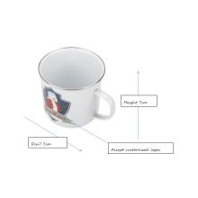 Taza de camping de diseño personalizado blanco