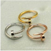 Anel da forma anel do prego anel do prego jóia