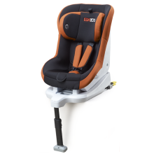 Baby car seats with grey-orange cover