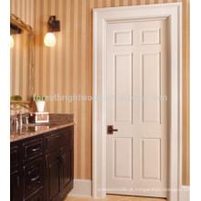 6 Painéis modernos interiores portas de madeira maciça