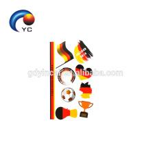 NOUVEAUX autocollants de tatouage de drapeau national de football Tatouage temporaire de visage de drapeau cosmétique