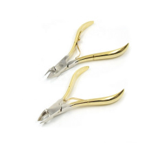 Professional Half Gold Plating Stainless Steel Pedicure Remover Cuticle Clipper